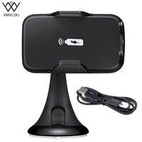 Araç Tutucu Hızlı Kablosuz Araç Şarj Emme Kupası Dağı 2 in 1 Kablosuz Şarj Cep Telefonu Tutucu Samsung Için Şarj tutucu