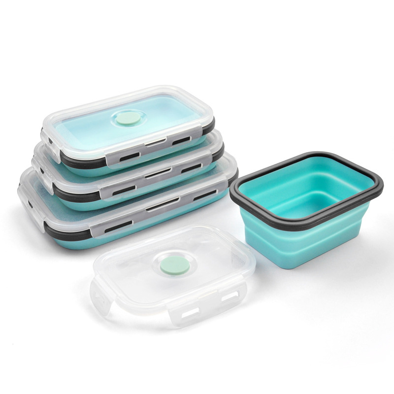 Goldbaking Silicone Lunch Box Collapsible Food Container Bpa Free