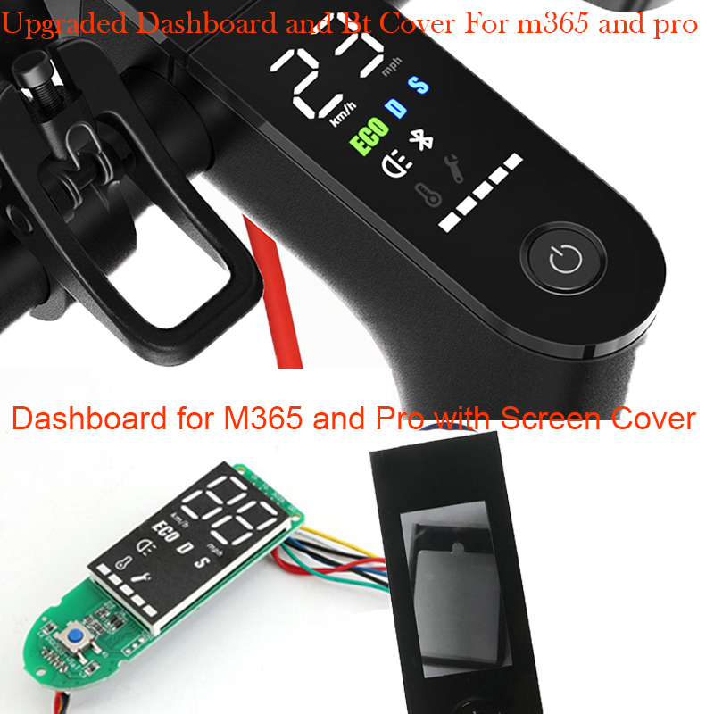 Upgrade Xiaomi M365 Pro Scooter Dashboard W/ Screen Cover Xiaomi M365 Scooter Pro Circuit Board Xiaomi m365 Pro M365 Accessories bracelet