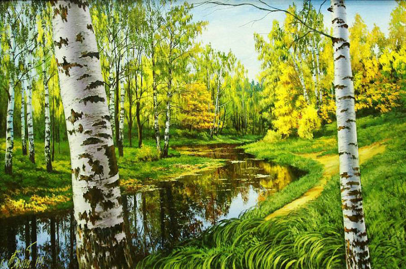 Mosaic Crafts Diy Diamond Painting Cross Stitch picture Full Rhinestones Crystal Square 5D Diamond Embroidery Birch trees woods ...