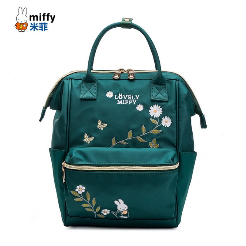 miffy Brand women Backpack Flowers nylon Backpack Student School Bag Embroidery Backpack for Teenage Girls Fashion Travel Bags tegaote new design women backpack bags fashion mini bag with monkey chain nylon school bag for teenage girls women shoulder bags