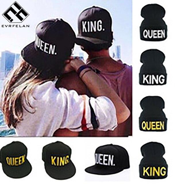 Nueva llegada marca Rey reina del casquillo del Snapback hombres mujeres  gorra de béisbol deporte Hip c8849cf1c7d