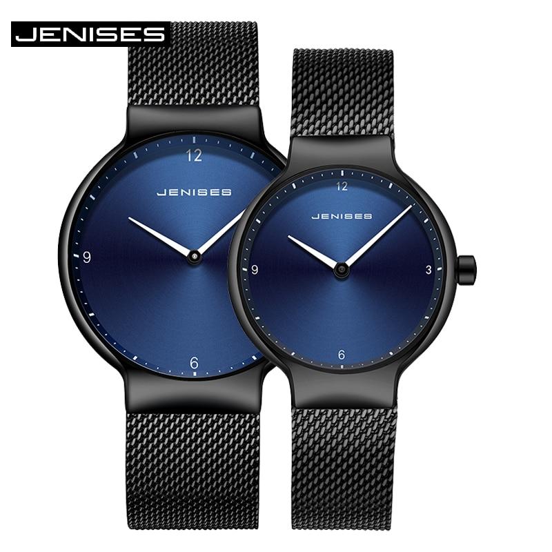 2019 Luxury Women and Men Watches Top JENISES Brand Quartz Watch Ladies Wristwatches Couples Clock Watch Dress Relogio Feminino