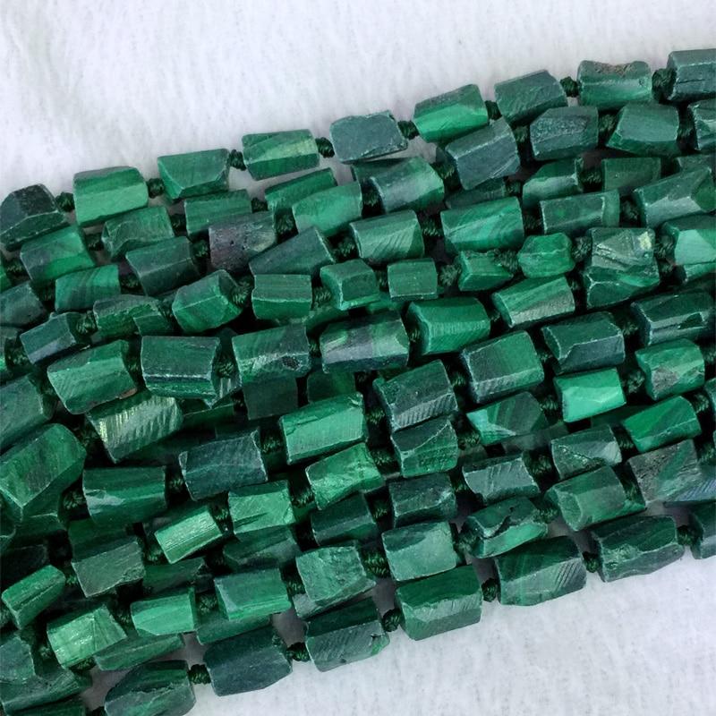 Граненые шарики, натуральное сырое, темно-зеленое, ручная резка, грубая матовая Форма, 6-8 мм, 15 дюймов, 05362