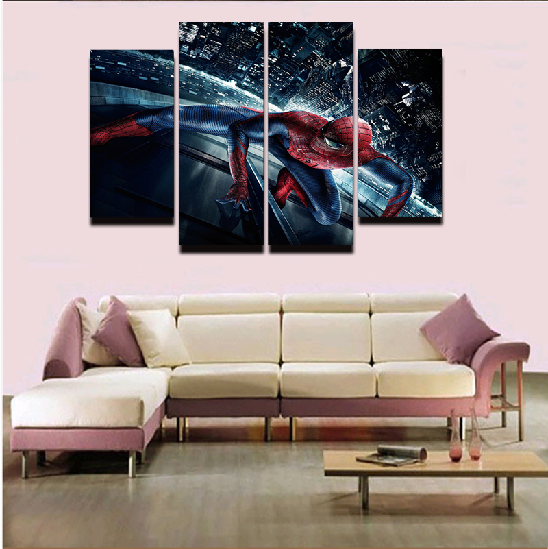 Online get cheap spiderman art alibaba group for Fallout 4 canvas painting