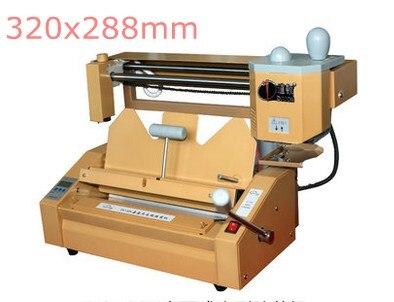 цена на 2018 New professional perfect binding machine manual perfect book binder hot melt glue binder