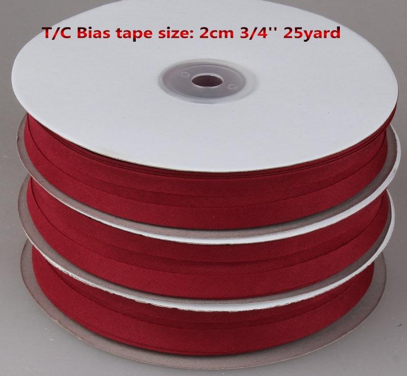 Free Shipping Bias Tape, Bias Binding Tape Size: 20mm