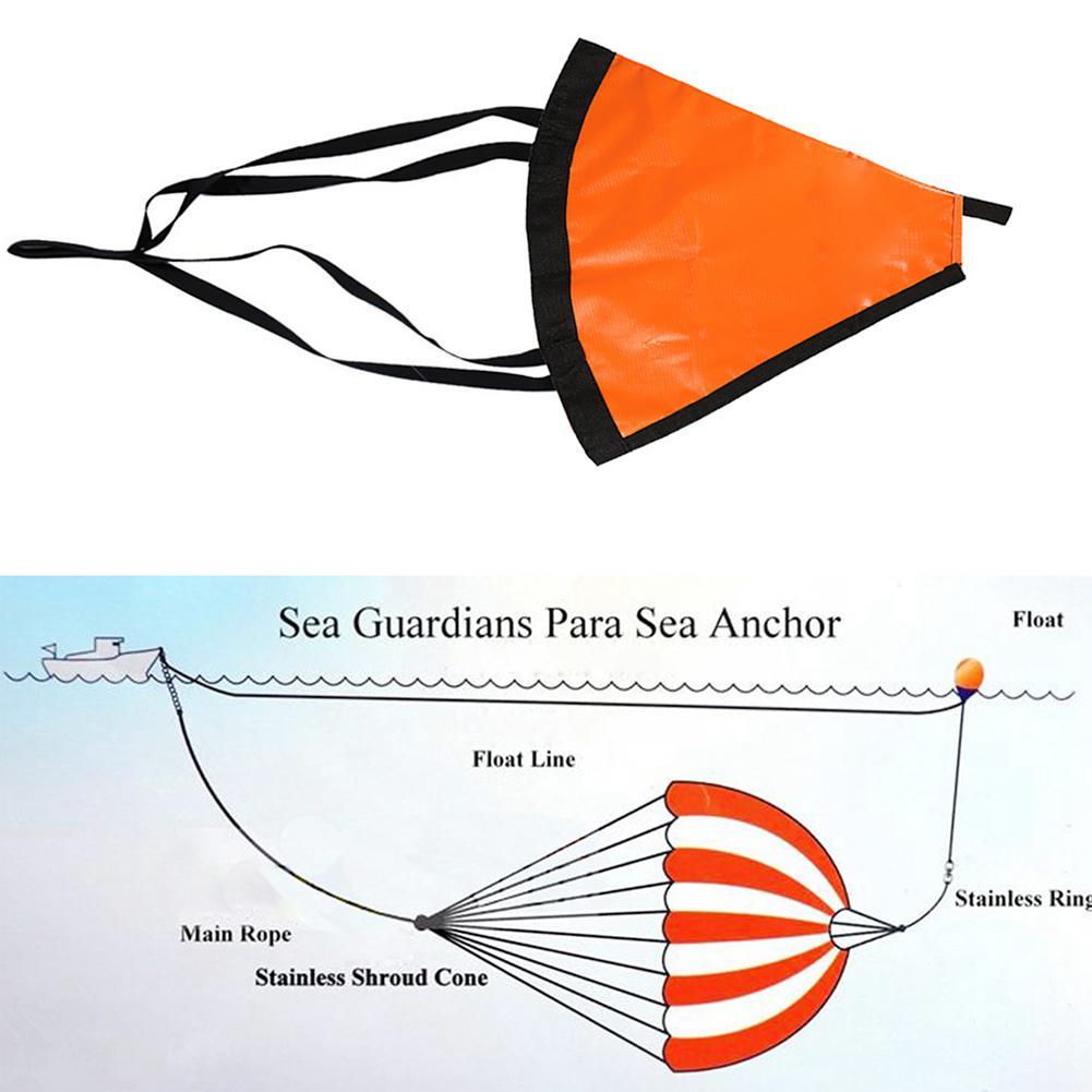 Mounchain 24inch Drogue Sea Anchor Marine Kayak Drift Sea Anchor Trolling Drift Sock Sea Brake Fishing Rowing Boat Yacht