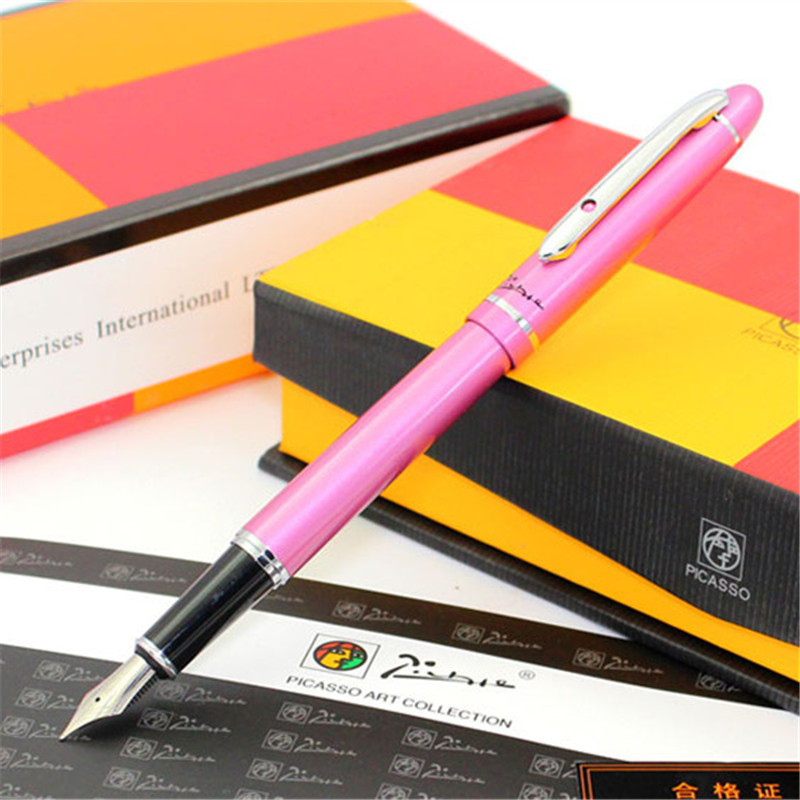 1pc/lot Picasso 608 Fountain Pen Rose Angus Starling Pens Silver Clip Picasso Pimio Office/Writing Suplies Stationery 13.6*1.3cm 1pcs lot free shipping picasso fountain pen 986 pimio picasso pens for women girls gifts 5 colors white red brand pen not box