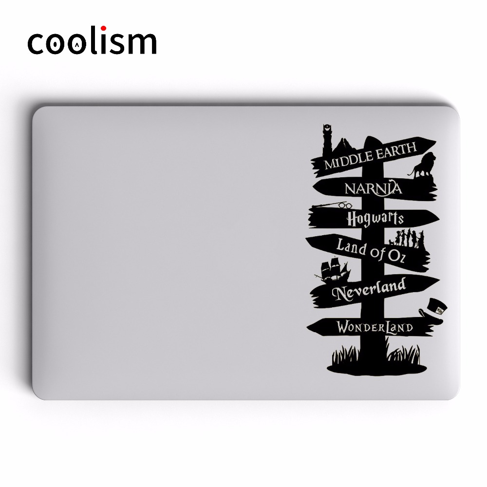 Fairy Tales World Signpost Laptop Decal Sticker for Apple MacBook Decal 13 Pro Air Retin ...