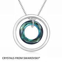 2016 Christmas regalo caliente venta de la nueva moda doulbe collar colgante círculo para para cristales de Swarovski