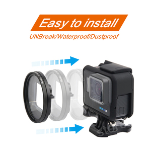 Image 3 - Professional 52mm UV Filter for GoPro Hero 5 6 7 Black Action Camera with Lens Cover Mount For Go Pro 7 6 Accessories