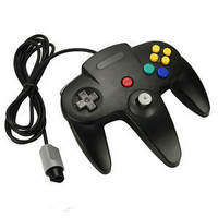 Black Wired Original Interface Joystick Video Game Controller For Nintendo N64 200cm Cable