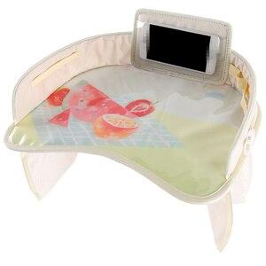 Image 4 - 車のベビーシートテーブルポータブル多機能漫画ベビー子供子供車の安全座椅子トレイのおもちゃ食品ドリンク携帯電話ホルダー