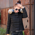 2017 new winter coat female feather padded cotton Loose Women's short paragraph Nagymaros collar parkas wholesale 7389
