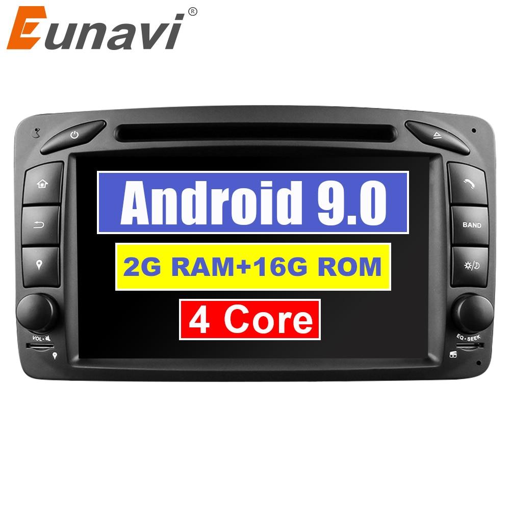 Eunavi 2 Din Android 9.0 lecteur Radio DVD voiture stéréo gps navi pour Benz W203 W208 W209 W210 W463 Vito Viano avec wifi bt swc