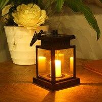 Solar Garden Candle Light Decorative Light Umbrella Tree Fence Lantern Chandelier Warm White Garden LED Light DS 001