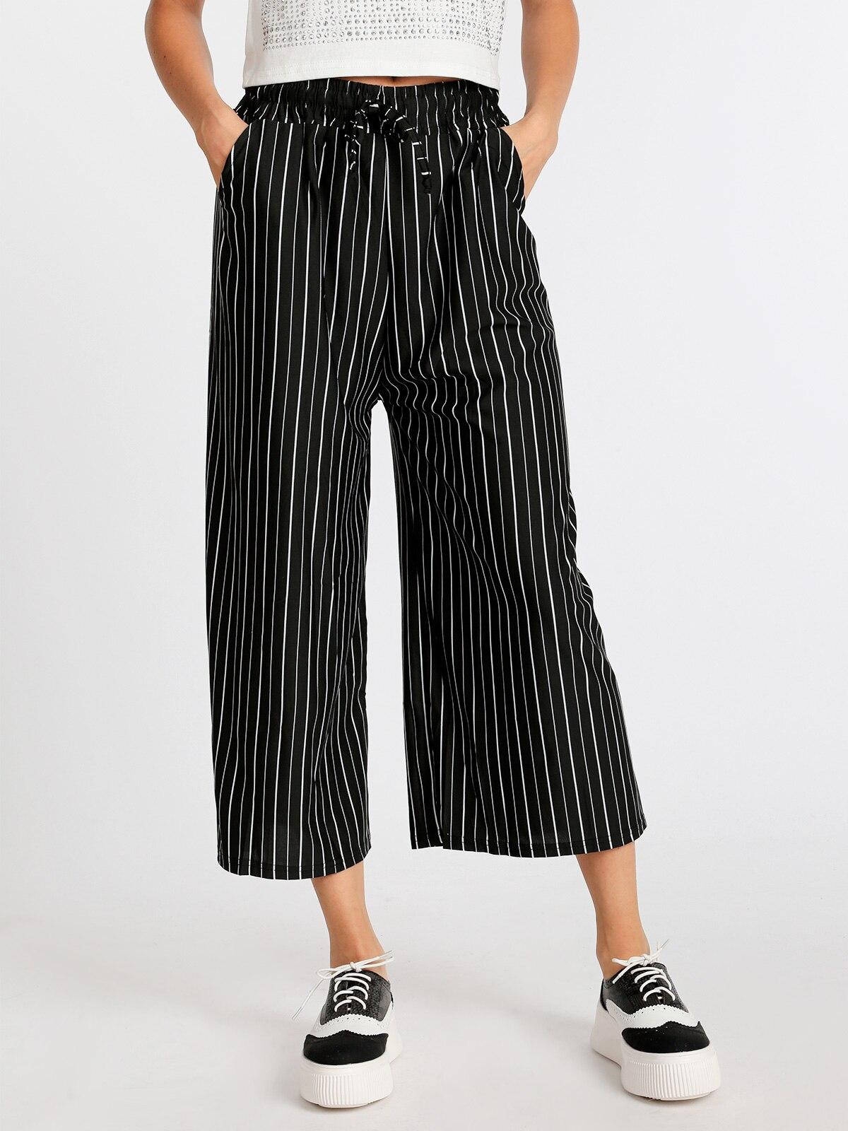 SOLADA Culotte Pants Striped