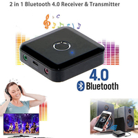 2 in 1 Bluetooth 4.0 Receiver and Transmitter 3.5mm Wireless Bluetooth Audio Music Adapter Connecting 2 Speakers & Earphones