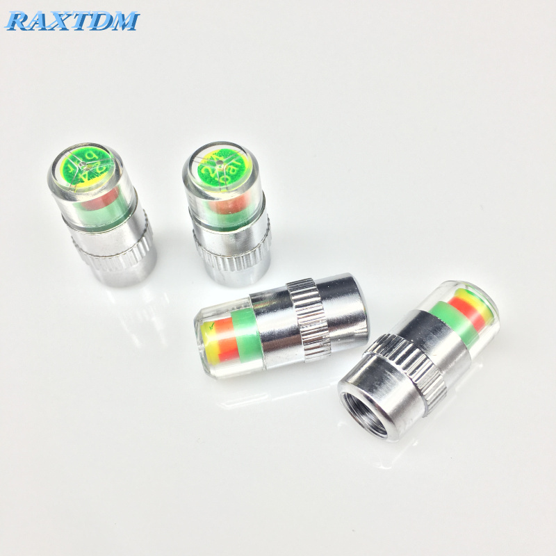 4pcs Car Tire Air Pressure Valve Stem Caps Sensor Indicator For Peugeot 206 207 301 307 308 407 408 508 2008 3008 4008