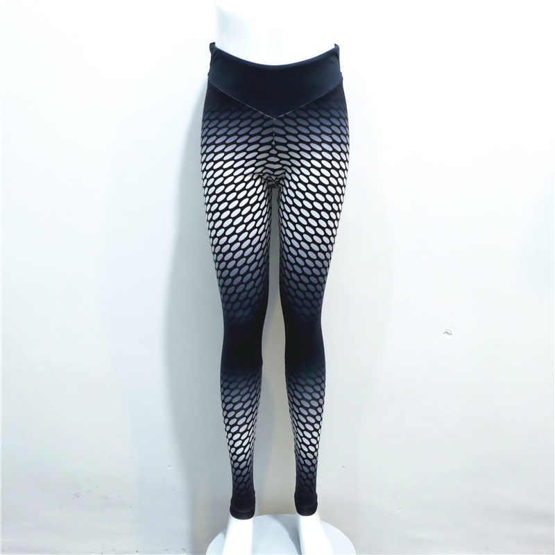 جديد وصول المرأة التدرج اللون دوت 3d طباعة اللياقة ضغط السراويل لحمي مرنة الرياضية leggins كل موسم تجريب