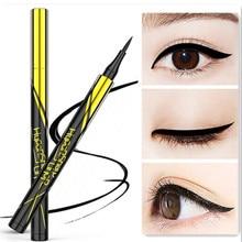1 шт., черный, коричневый, Водостойкая Подводка для глаз, маленький золотой карандаш, стойкая к поту, долговечная жидкая подводка для глаз, карандаш, инструмент для макияжа