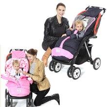 2018 детский спальный мешок детская коляска спальный мешок зимний теплые спальные мешки халат для детской коляски конверты для новорожденных