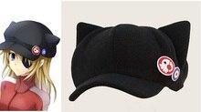 Neon Genesis Evangelion EVA Аска женщины бейсболка cap Лэнгли Сорю Кот Уха Флиса Hat Casquette Фуражке Значки