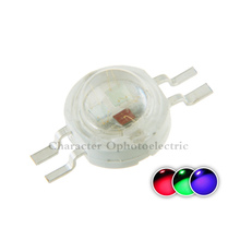 50pcs 4pin 3W RGB Color High Power LED Chip Light (RED+BLUE+ GREEN) for led lamp