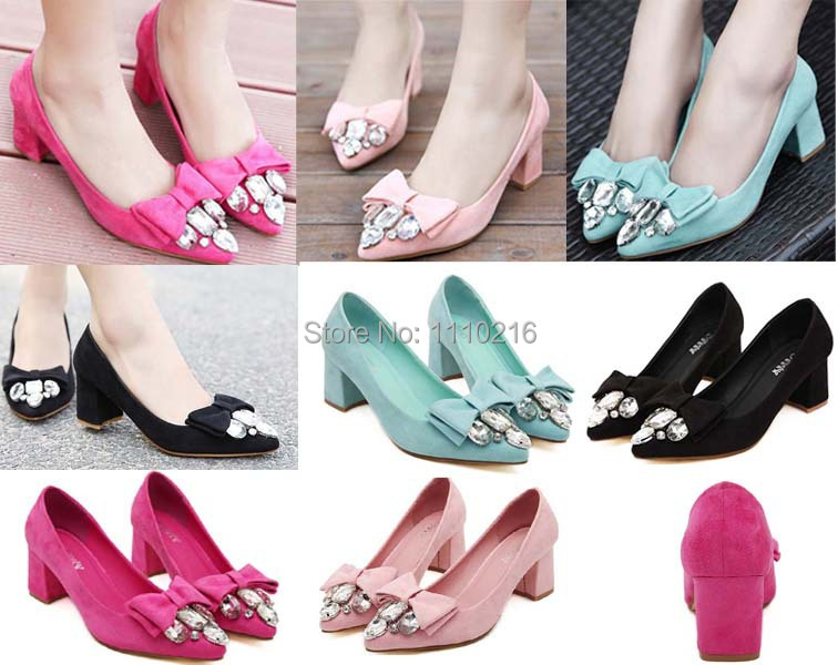 Low Heel Pink Pumps
