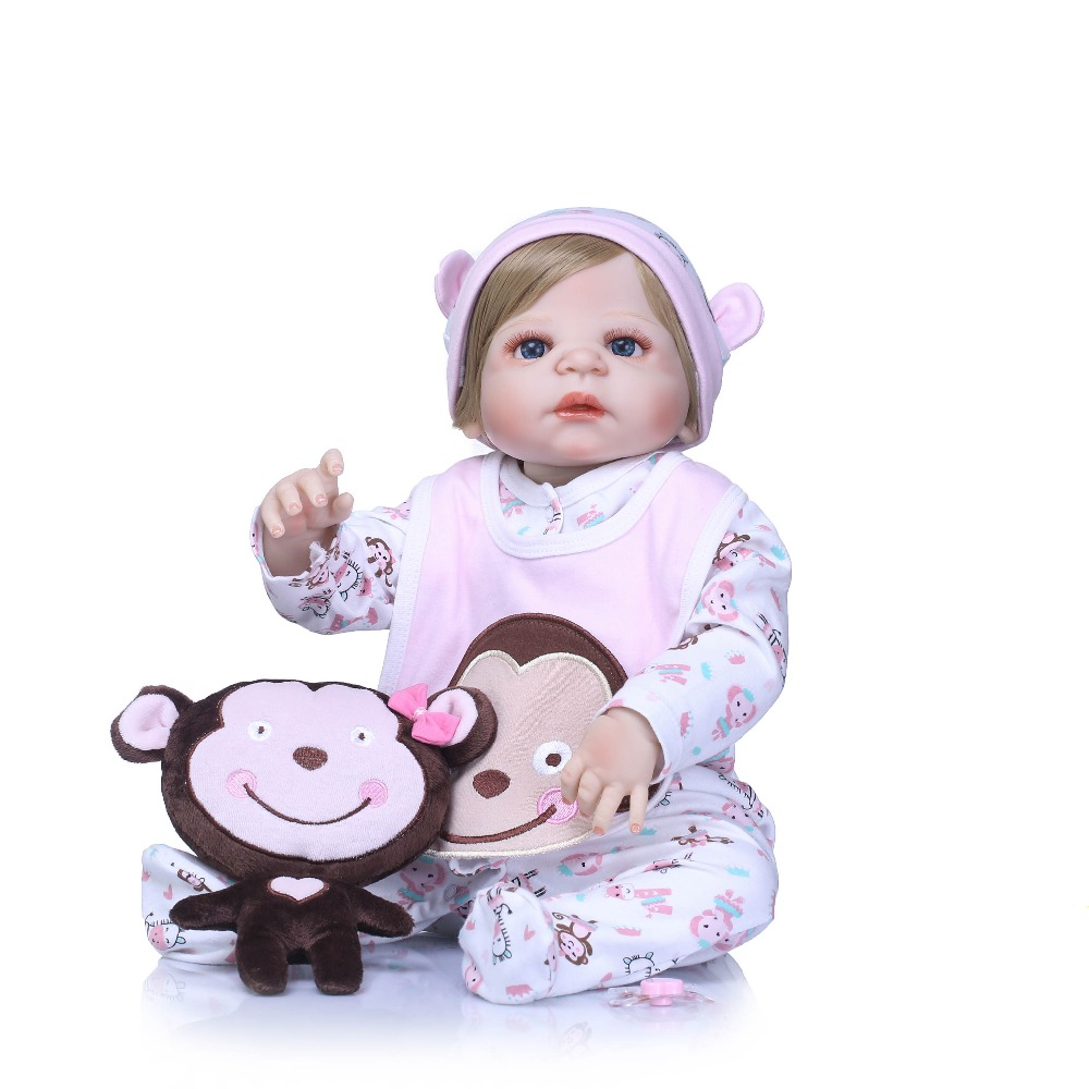 NPKCOLLECTION Full Silicone Vinyl Reborn Girl Baby Doll Toys 22inch Newborn Princess Babies Girls Bath Toy Play House Toy DollNPKCOLLECTION Full Silicone Vinyl Reborn Girl Baby Doll Toys 22inch Newborn Princess Babies Girls Bath Toy Play House Toy Doll