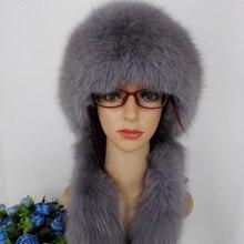 Mujeres real Fox Pieles de animales Sombreros bomber conejo Rex Pieles de  animales cubierta de invierno 9e24ed92a07
