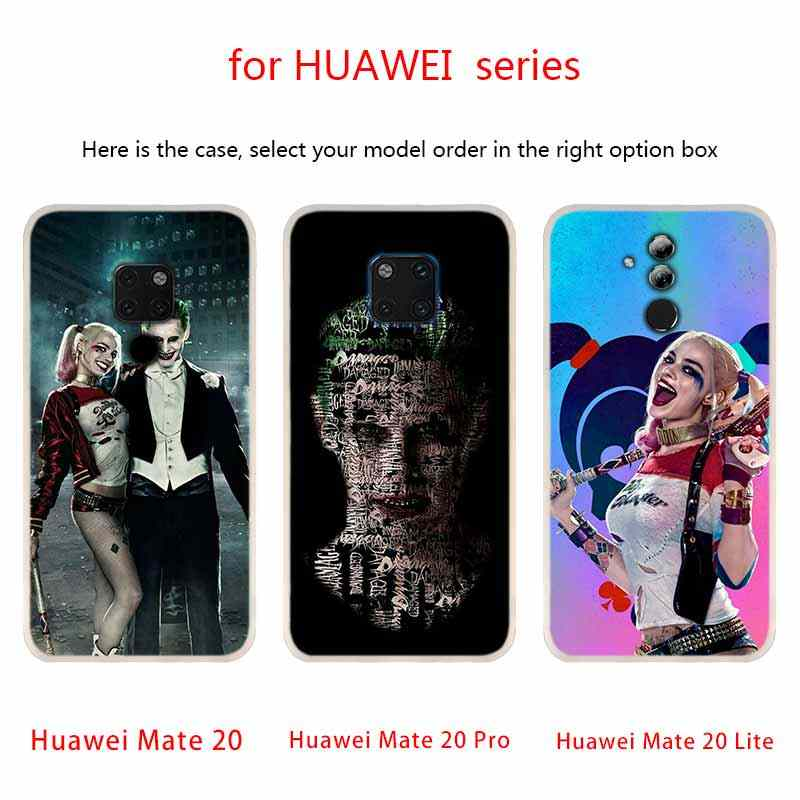soft silicone case Joker Harley Quinn For Huawei Mate 20 10 Lite 20 pro s Nova 3 4 3i y9 y6 y5 y7 pro 2019 2018 2017 20X Cover