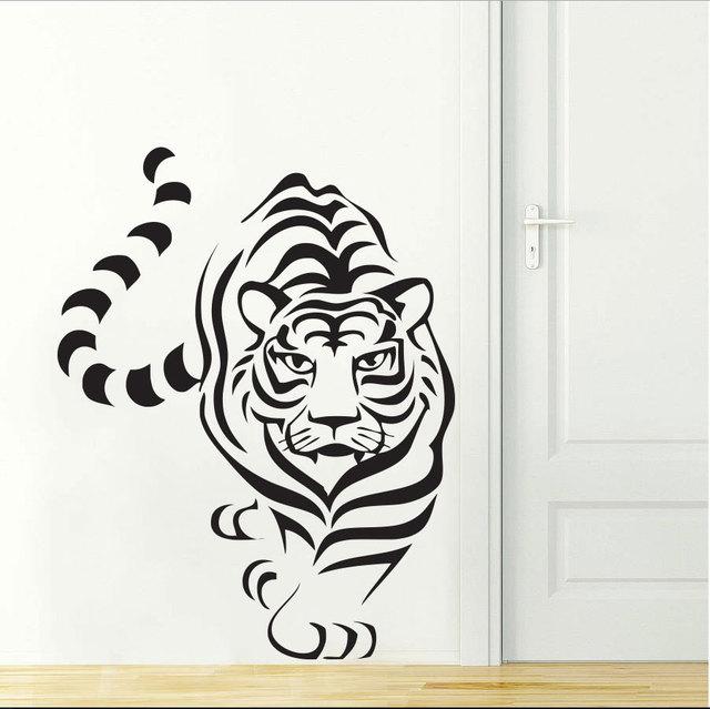 Cat Jungle Animal Tiger Wall Decal Decor Art Sticker Vinyl jungle Zoo Wall Sticker Animal Tiger  sc 1 st  AliExpress.com & Cat Jungle Animal Tiger Wall Decal Decor Art Sticker Vinyl jungle ...