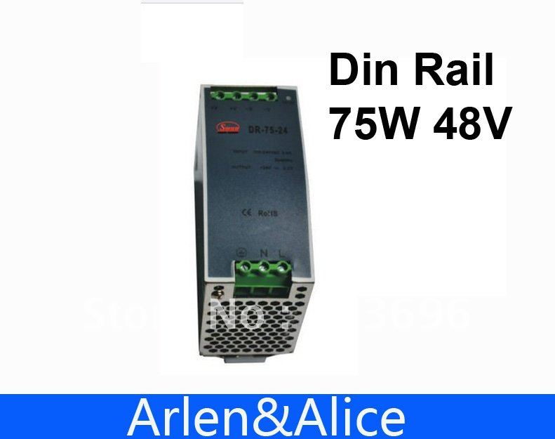 75W 48V Din Rail Single Output Switching power supply 2014 high performance switching power supply 75w single output din rail type power supply