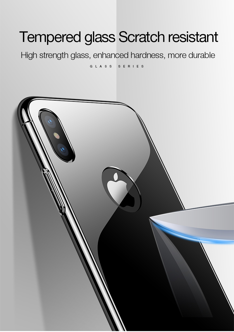 CAFELE Luxury Case For iPhone X 10 plating frame Tempered 3 in 1 Glass Ultra Thin color Glass Back Cover For iPhones X 10 Cases (6)