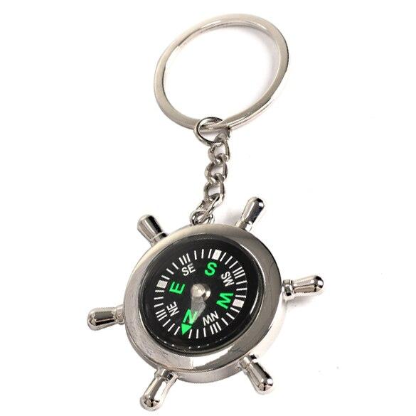 Выживание колеса Рудер брелок Открытый Отдых Пеший Туризм кольцо для ключей Компасы