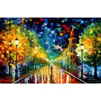Modern art landscape gold winter II palette knife oil painting High quality Hand painted home decor
