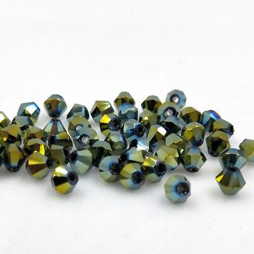 Новинка 5301 4 мм 1000 шт стеклянные кристаллы бусины биконус граненый свободный разделитель бисер бусины Fantas AB DIY Изготовление ювелирных изделий U выбор цвета - Цвет: 228