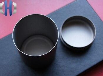 EDC Scrub Ultra-thin Tea Can Titanium Storage Box Pure Titanium Portable Outdoor Titanium Toy Box Titanium Can