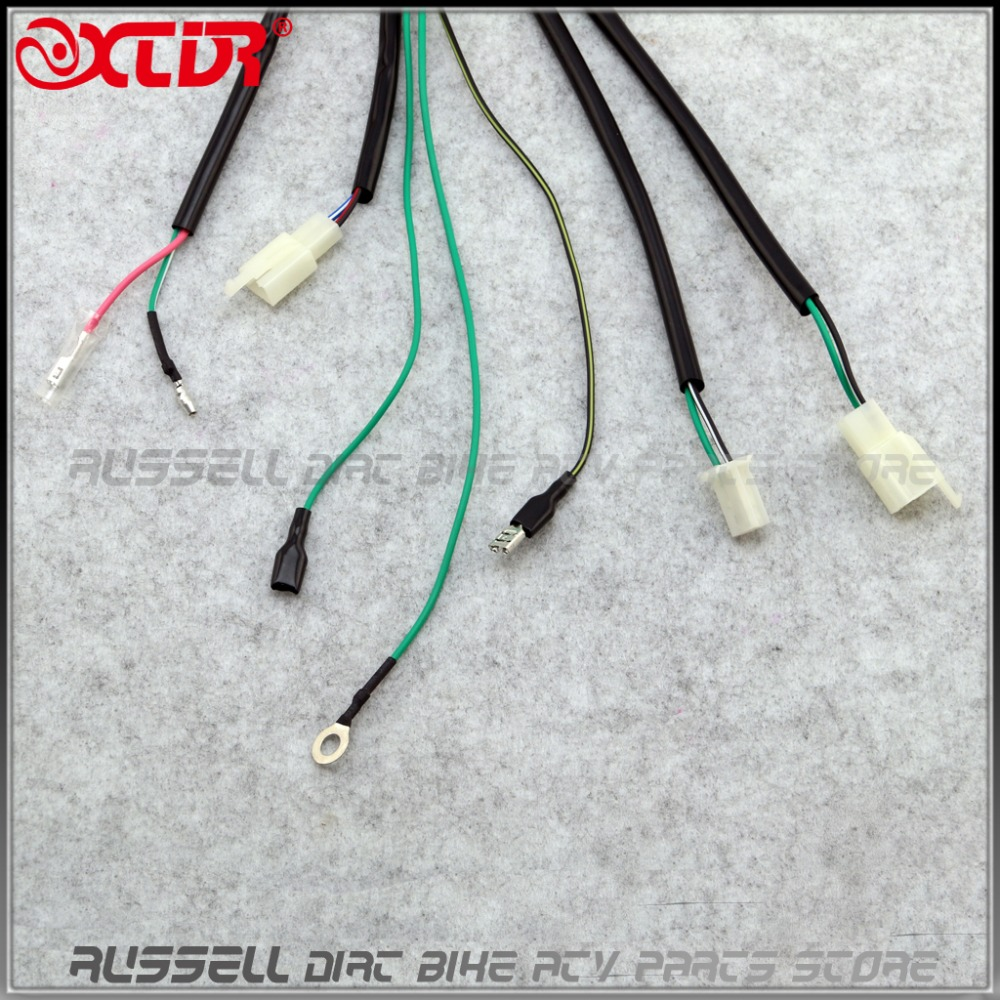 hight resolution of 8 pin cdi unit plug kick start wiring wire harness loom cable for lifan 140cc wiring harness