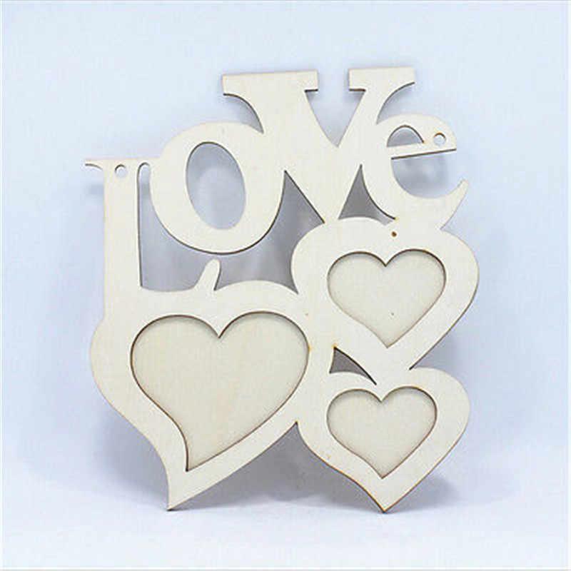 Прямоугольная деревянная фоторамка с семейная с буквами любовь английская буква подвесная DIY картина рамка Искусство ремесло Домашний декор