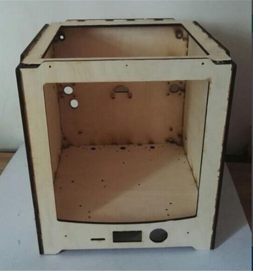 DIY Ultimaker 2 3d printer wooden frame UM2 panel kit laser cut 6 mm woodden shell case