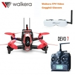 Walkera Rodeo 110 110mm DEVO 7 TX RC Racing Drone Quadcopter RTF With 5.8G FPV Head Tracker Goggle2/Charger/600TVL Camera