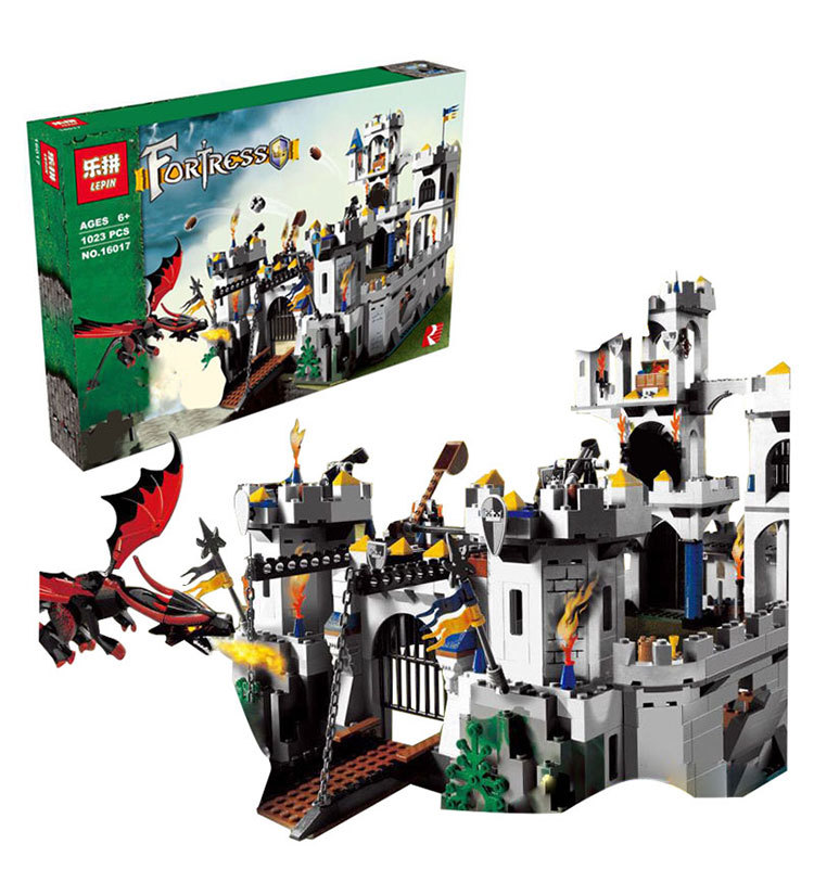 Lepin 16017 Castle Series King Castle Siege Set Kid Building Stones Brick Educational Toys Modeled Gems 7094 lepin 16017 castle series genuine the king s castle siege set children building blocks bricks educational toys model gifts