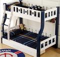 Mediterranean solid wood bunk bed children's bed+fence bed