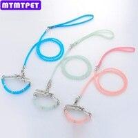 5set Lot Puppy UV Discoloration Noctilucent Bead Cat Band Small Dog Pet Traction Belt Set Pet