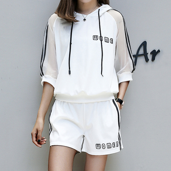 b1306db85b1 Летние женские спортивные костюмы 2019 повседневная женская одежда ...