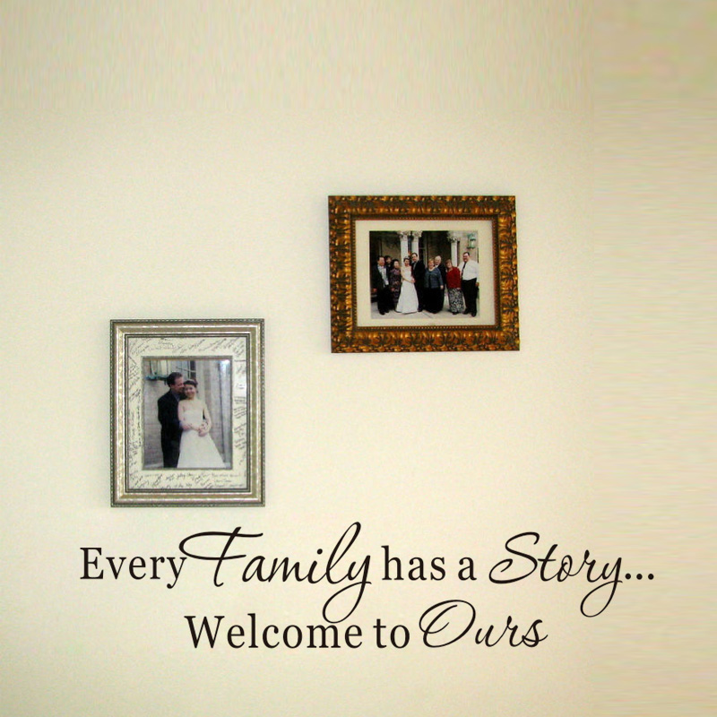 DCTOP Cada Familia Tiene Una Historia de Pared de Vinilo Pegatinas Arte Negro Pe