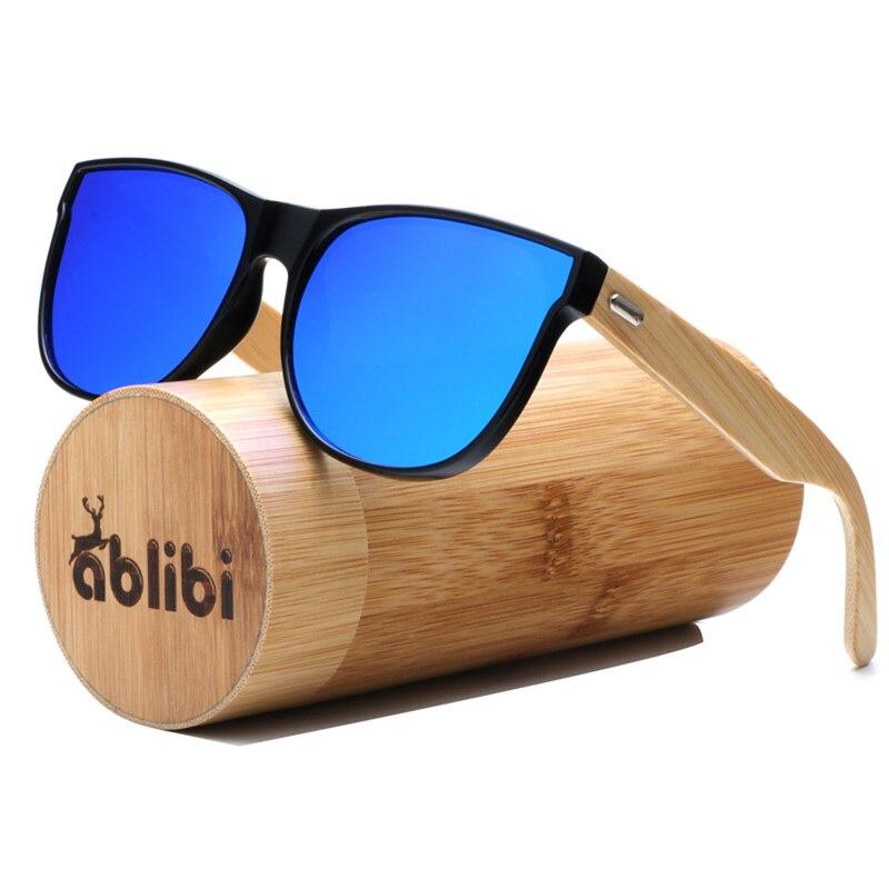 Ablibi Bamboo Wood Polarized Sunglass oculos de sol Women Men Unique Handmade Bamboo Glasses in Wood Case oculos de sol feminina